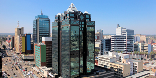 Flights to Harare. Visit Downtown Harare Skyline