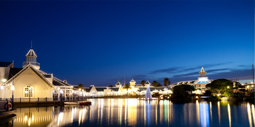 Flights to Port Elizabeth. Visit Waterfront at Night